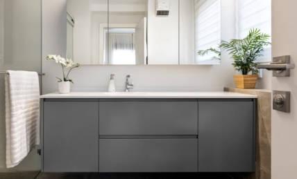 ארון אמבטיה אפור מט