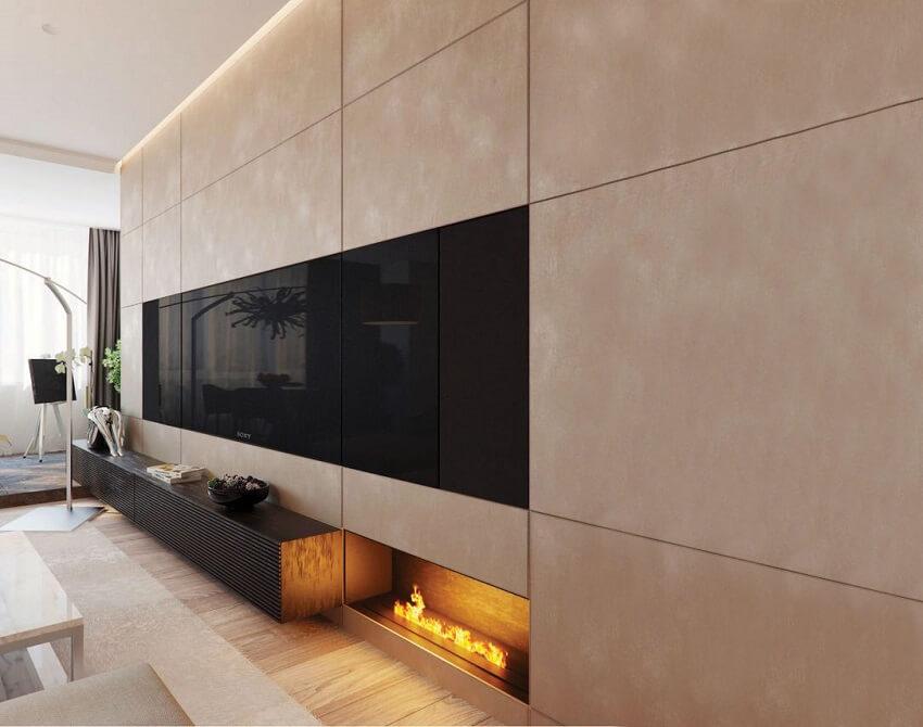 חיפוי עץ לקיר בצביעה מיוחדת