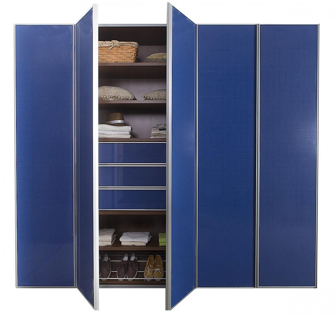 ארון פתיחה 5 דלתות צבע כחול