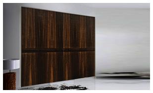 ארון הזזה דלתות קו 0 מעץ אקליפטוס
