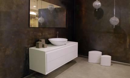 ארון אמבטיה לבן מט