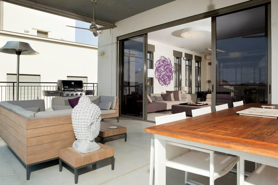 עיצוב מרפסת בדירת מגורים