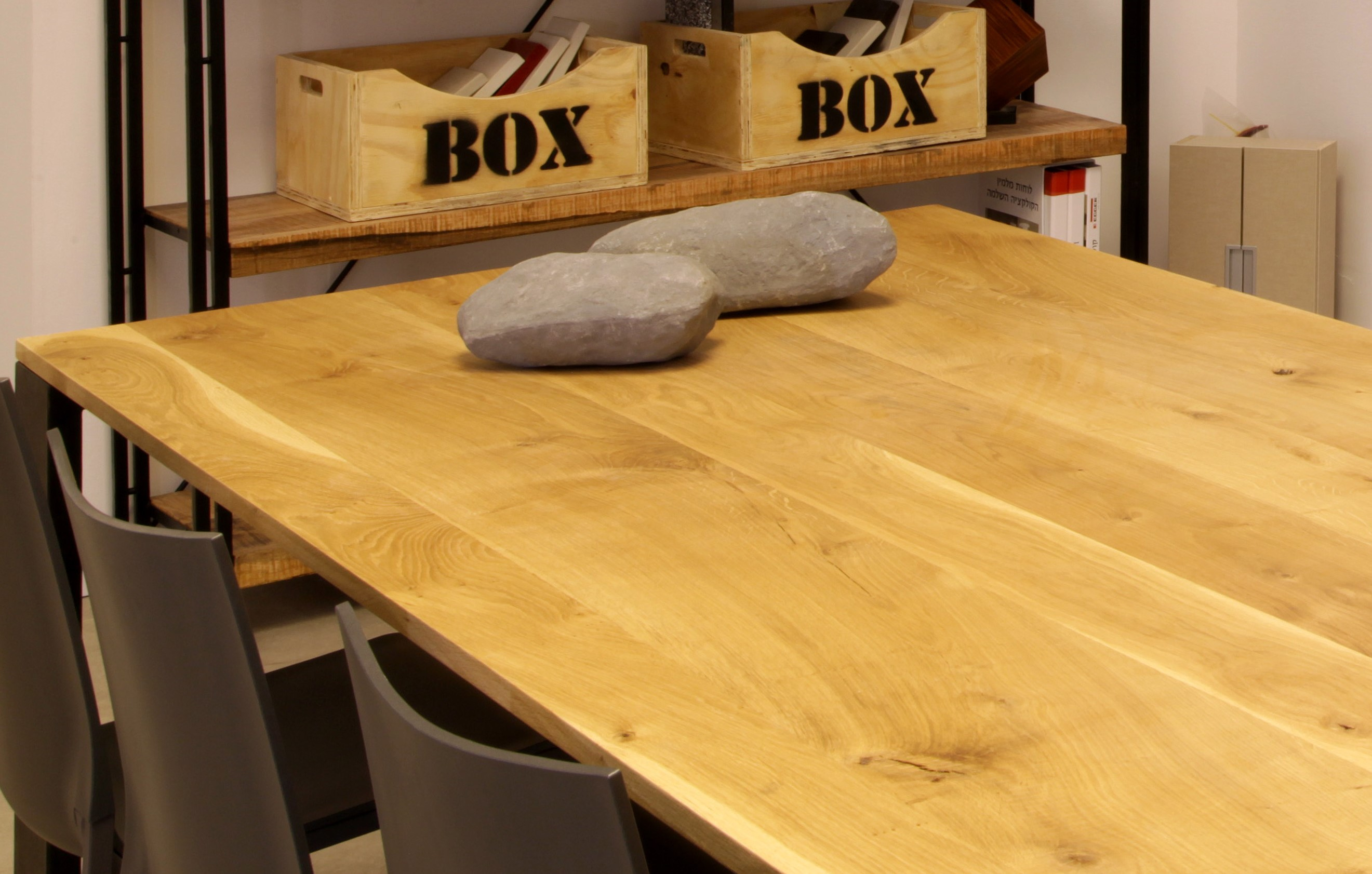 שולחן מעץ אלון גושני