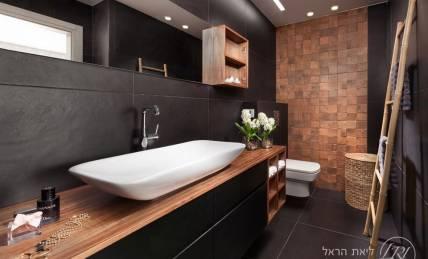 ארון אמבטיה walnut
