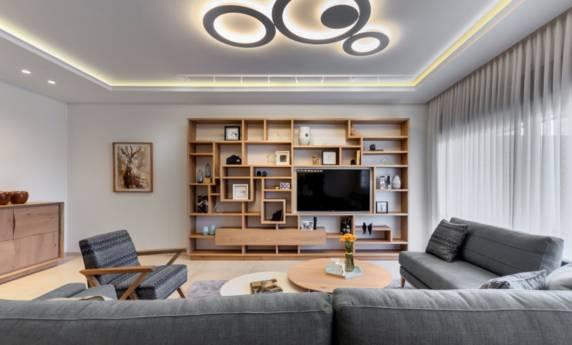 פינת ישיבה מעוצבת על ידי האדריכל אמיר פלג